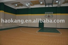 Indoor basketball court surface