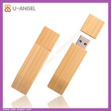 factory selling wooden usb flash memory drive ,4gb bamboo flat usb stick