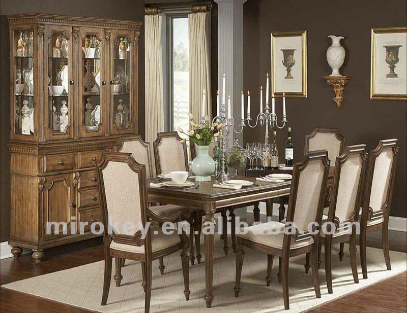 Antiguos de madera juego de comedor mesa de comedor - Comedores antiguos de madera ...