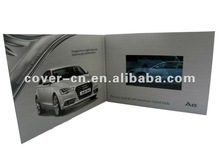 Famous Car Brand Video Greeting Card as romotion gifts