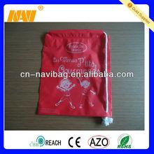 small plastic drawstring gift bag(NV-6048)