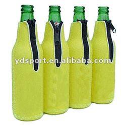 bottle ice bag with zipper,neoprene bottle cooler bags