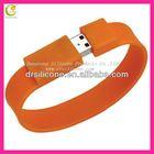 Fashionable design silicone bracelet usb flash drive