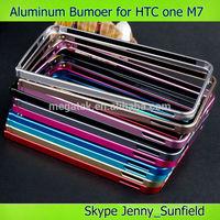 Mobile phone accessories phone case Easy snap aluminum bumper for HTC M7 , For HTC M7 bumper