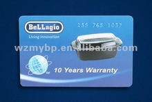hi quality PVC visiting card