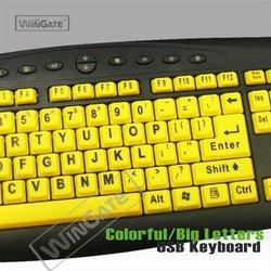 big large letter print keyboard good for eyesights WKB-M818B-3