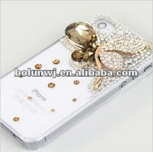 In 2012, the latest design Crystal Maple Leaves Colorful Phone Cover Jeweled Cell Phone Cover Design Mobile Phone Cover