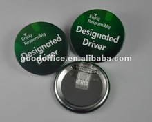 Safety pin tinplate button badge - 2012 Best selling gifts