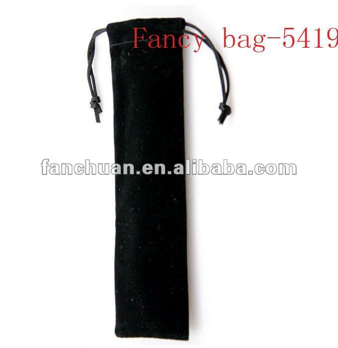 fashion fleece drawstring pen bag