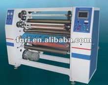 FR-215 BOPP Film Cutting Machine With 4 Shafts Exchange Rewinding And Powder Brake Control