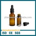 esencia de ámbar aceite frasco gotero de vidrio