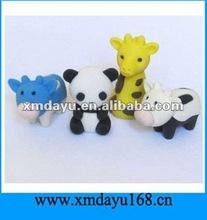 Lovely 3D Animal Shape Erasers for Children