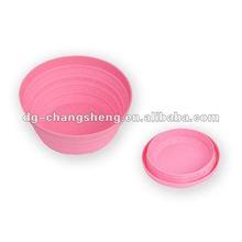 Flexible pure silicone bowl