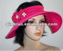 New Hot Pink Sun Floppy Wide Brim Visor Garden Tea Hat