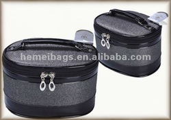 Lovely cheap stain handle cosmetic bag for lady