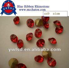 ss6 pp13 fushia color crystal rhinestone beads fashion jewelry accessories