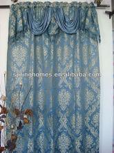 Jacquard windows curtain with valance