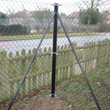 9 Gauge Chain link Wire Mesh Fence(Angle Steel Post)
