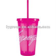2012 BPA Free straw plastic coffee cup, cups, travel mug, the tumbler