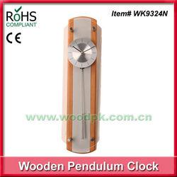 2015 hot sell simple design glass quartz wall pendulum clock