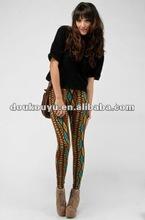 2012 Hot & Fashion strip printing leggings