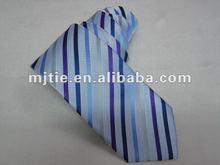 100% polyester woven fashion striped necktie