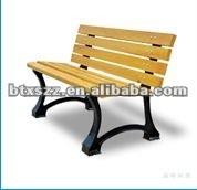 cast iron wooden garden bench