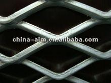 Expanded metal aluminum deck railing