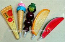 Novel Ball Pen in Food & Fruit Shape