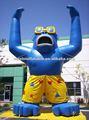 Animais infláveis moscot inflável azul gorila publicidade slogan