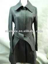 2012 designs womens wool overcoat