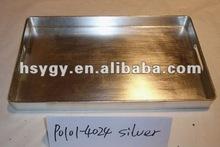 Silver Plastic Tray