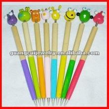 fashion wooden animal ballpoint pen