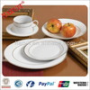 Home Utensils China Factory Golden & Silver Rim Design Crockery Ceramic 20PC Dinnerware Dinner Set Dinner Plate Sets