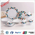 Casa qualidade e Design Corelle louça define atacado / porcelana pratos de jantar / branco ou com impressão elegante