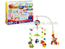 Children toys--musical turning electric bed bell
