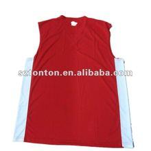 China red basketball top