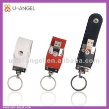 Factory wholesale USB flash drives,USB 2.0 oem bulk 2gb USB flash drives,leather key ring 32gb USB memory stick