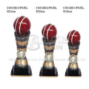 Polyresin cricket trophy cup