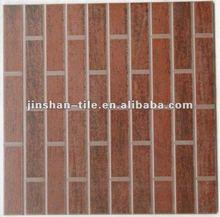 Brown 400x400x8.5mm wood patterns glazed ceramic floor tile