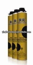mamufacture gun /tube type 750 ml Environmental aerosol canned expanding pu foam sealant in china