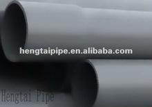 China Large Diameter Rigid Grey PVC Water Supply Pipe