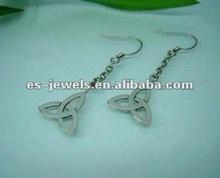Stainless Steel Eardrop for Women Charming Earrings Silver Color