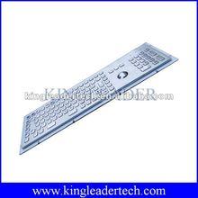 103 keys Industrial metal keyboard with Function keys, optical trackball and number keypad