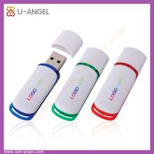 White Simple plastic usb flash drive, USB Disk usb pen Drive, customize USB Flash drives