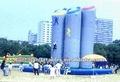 emozionante per esterni parco giochi gonfiabile gioco arrampicata per adulti e bambini