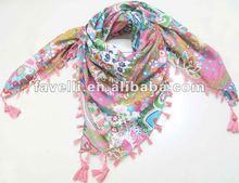 2012 Newest Ladies Fashion Square Wholesale Cotton Scarves