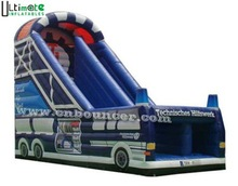 Giant fire truck inflatable slide for sale