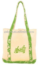 Natural 10oz cotton canvas tote bag with long handle