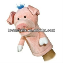 pig plush hand puppet toy